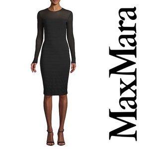MaxMara Orafo Bodycon Sheath Dress Black M